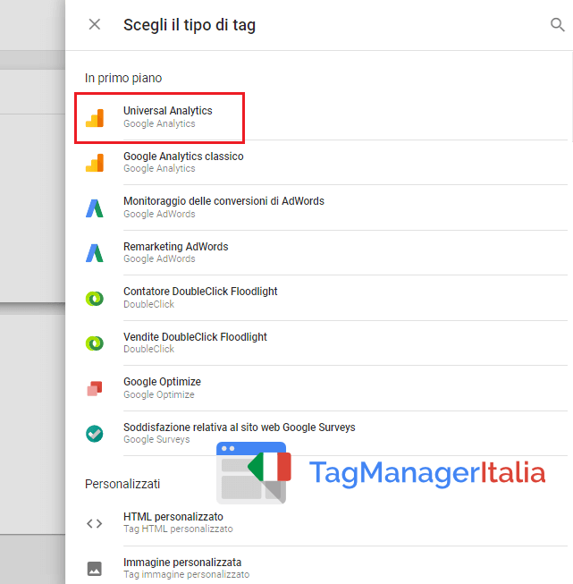 tag universal analytics google tag manager