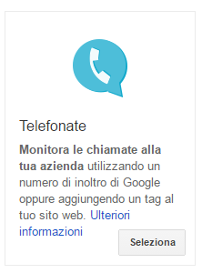 conversione telefono adwords