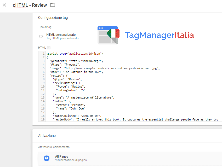 review-seo-google-tag-manager