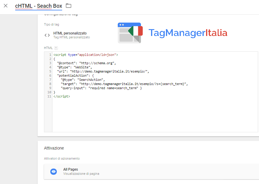 search-box-google-tag-manager